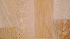 Close up of oak parquet Of beige color. Macro video shift motion Stock Footage