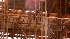 KOH SAMUI, THAILAND - JUNE 21: Water leak in house under construction. Video Stock Footage