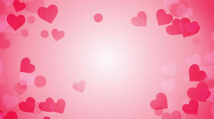 Heart shapes on bright background loop Stock Footage