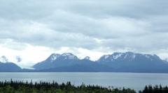 Time lapse: Alaskan mountain glaciers, Kenai Peninsula - stock footage