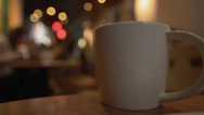 Starbucks Coffee Shop Coffee Cup 2014 Stock Footage
