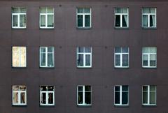 Exterior of an apartment or office block - stock photo