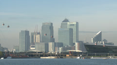 CANARY WHARF HSBC BARCLAYS CITI BUILDING Stock Footage