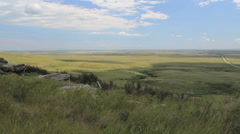 Canada Alberta landscape from rim rock c Stock Footage