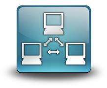 icon, button, pictogram network - stock illustration