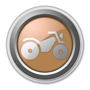 icon, button, pictogram atv - stock illustration