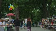 Ethnic Fairs in Ukraine Stock Footage