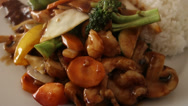 Stock Video Footage of chinese food hot and steaming