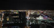 Stock Video Footage of 4K aerial shot of the stunning Las Vegas strip at night