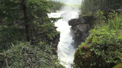 Canada Alberta Athabasca Falls at gorge s Stock Footage