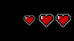 Pixel Hearts Stock Footage