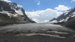 Canada Athabasca Glacier dramatic view c Stock Footage