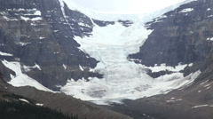 Canada Columbia icefield snow and ice on slope s Stock Footage