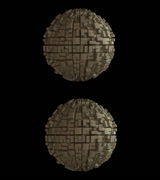 Stereoscopic visuals for 3D Greble Ball Over/Under Stock Footage