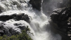 Canada Alberta Athabasca Falls dramatic plunge s Stock Footage