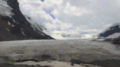 Canada Icefields Parkway Athabasca Glacier sun and shadow s Stock Footage