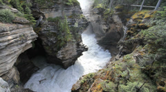 Canadian Rockies Jasper National Athabasca Falls Stock Footage