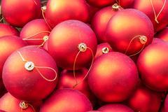 Red christmas ornament balls Stock Photos