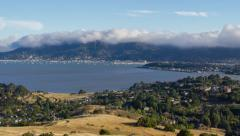 Time Lapse of Fog rolling over Sausalito and the Marin Headlands Stock Footage