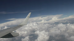 AeroMexico Flight over Mexico City Daytime Clouds Timelapse - stock footage