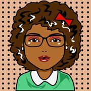 afro woman - stock illustration