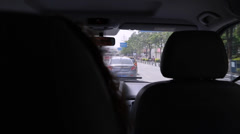 An interior car dolly shot in china Stock Footage