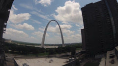 St. Louis Arch time lapse Stock Footage