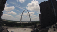 Stock Video Footage of St. Louis Arch time lapse
