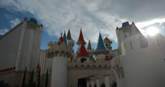 4K video of the Excalibur Hotel and Casino in Las Vegas, Nevada Arkistovideo