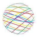 Stock Illustration of abstract sphere from color lines
