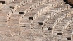 Steps form ancient  amphitheater Stock Photos