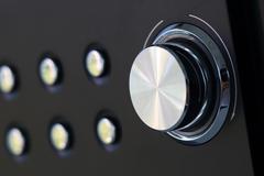 Volume control knob, volume button use for icon background Stock Photos