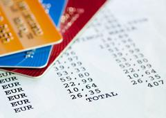 Credit card statement Stock Photos