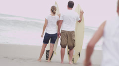 Caucasian Parents Young Daughters Water Sport Lifestyle - stock footage
