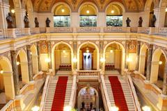 Main hall of the czech national museum in prague Stock Photos