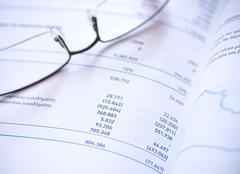 financial statement - stock photo