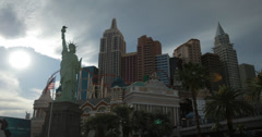 4K video of the New York New York Hotel and Casino in Las Vegas, Nevada Stock Footage
