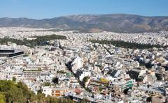 athens cityscape - stock photo