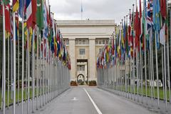 united nations offices in geneva - stock photo