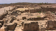 Ruins of the House of Theseus in Paphos Stock Footage