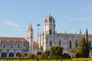 "Stock Photo of historic monastery ""mosteiro dos jeronimos"" of lisbon in portugal"