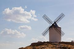 Windmills of consuegra in the la mancha region of central spain. Stock Photos
