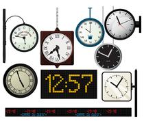Train station watches collection Piirros