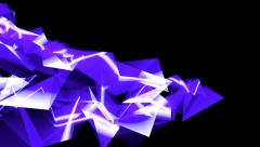 4k Abstract blue glass fragment curve&laser ray,flowing digital wave background Stock Footage