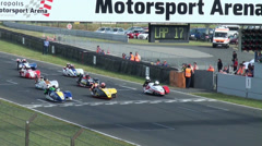 Sidecar race start at Sidecar motorsports racing Stock Footage