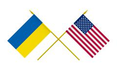 Stock Illustration of flags, usa and ukraine