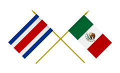 Stock Illustration of flags, mexico and costa rica
