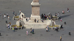 Looking over Piazza del Popolo Stock Footage