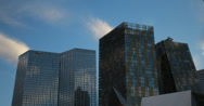 Stock Video Footage of 4K video of the Mandarin Oriental and Aria hotel and casinos in Las Vegas