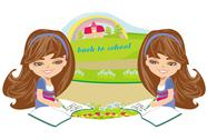 Back to school card Stock Illustration